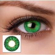 Truom Monthly Color Contact Lenses (Zero Power) with Free Lens Case/Container Kit Dark Green