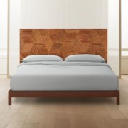Roquette Rattan Headboard King + Wood Frame by CB2