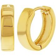 Classic Plain Thin Huggie Hoop Ear Lobe Earrings 24k gold stud for Men Women