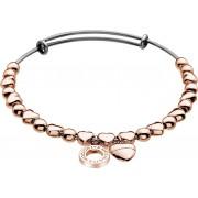 Hot Diamonds Brățară din oțel Emozioni Rose Gold placă inima DC095