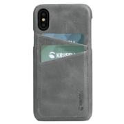 Protectie Spate Krusell Sunne Cover 2 Card KRS61502 pentru Apple iPhone XS Max (Gri)