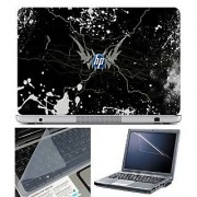 FineArts Laptop Skin HP Crack Effect With Screen Guard and Key Protector - Size 15.6 inch