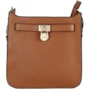 Michael Kors Women Casual Brown Genuine Leather Sling Bag