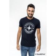 Haze & Finn T-shirt Logo Navy S