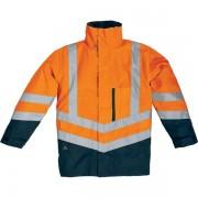 Parka 4 in 1 optimum Delta Plus OPTIMOMGT - 401955 abbigliamento da lavoro - en471 3 2 parka2 2 gilet en343 3 1 parka - arancione fluo/blu - Taglia l - Conf 1 - OPTIMOMGT
