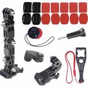 Sistem fixare a camerelor sport pe casca de protectie motocicleta bicicleta GoPro Hero 8/7/6/5 DJI Osmo Action