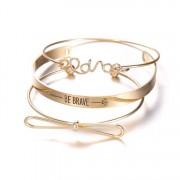 Női Karkötő Szett - 3 részes - arany színű