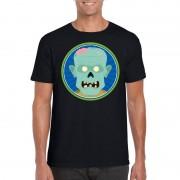 Bellatio Decorations Halloween zombie t-shirt zwart heren