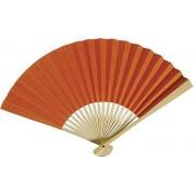 Orange Paper Hand Fan