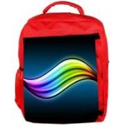 Snoogg Eco Friendly Canvas Multicolor Leavy Design Designer Backpack Rucksack School Travel Unisex Casual Canvas Bag Bookbag Satchel 5 L Backpack(Red)
