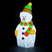 Figurina Luminoasa de Craciun Om de Zapada Acril 60cm 220V IP44