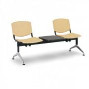Kovo Praktik Plastové lavice Design, 2-sedák + stolek žlutá