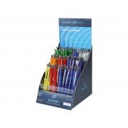 DISPLAY 100 PIX CU MECANISM SCHNEIDER OFFICE albastru Plastic Medie Pix cu mecanism