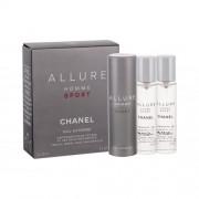 Chanel Allure Homme Sport Eau Extreme eau de toilette Впръскване със завъртане 3x20 ml за мъже
