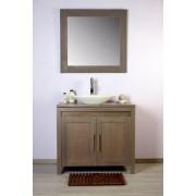 Saniteck Meuble salle de bain teck 90 grey