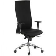 Hjh Sedia ergonomica MOVITEC, sedile e braccioli regolabili, schienale alto, uso 8 ore, in nero