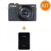 Kit Canon Powershot G9X Mark II Negru + Imprimanta Foto Canon Zoemini