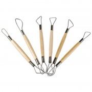 Set 6 unelte cu sarma pentru modelaj Heutink