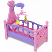 vidaXL Kids'/Children's Playroom Toy Doll Bed Pink + Purple
