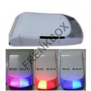 Sirena SC-500W wireless e via cavo a led multicolor per allarme antifurto 433Mhz