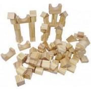 Set forme geometrice din lemn 100 Piese