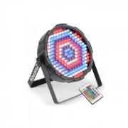 FlatPAR186 x 10mm Riflettore PAR RGBW LED DMX IR incl. Telecomando