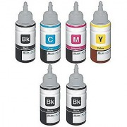 Epson Ink set Colors with 2 Black Extra (T6641-B T6642-C T6643-M T6644-Y) 70 Ml