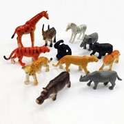 Greener One Wild Animals for Model Making, School Projects, Etc Multi Color, Animals May Vary Pack to Pack, Wild Animal 12 pc