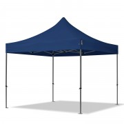 TOOLPORT Pop Up Gazebo 3x3m High Performance Polyester 350 g/m² blue waterproof