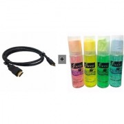 Exclusive combo Of HDMI Cable 1.5 mtr + Cleaning Kit