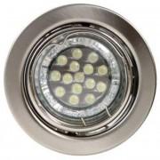 KIT-60A-3, 3db 1,5W GU10 230V fehér LED izzó, forg. beépíthető (3 db-os LED szett), matt króm