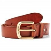 Collin Rowe Cognacfarbener minimalistischer Gürtel