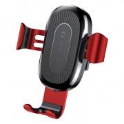 Baseus vezeték nélküli töltő Gravity Autós tartó Phone Bracket Air Vent Holder + Qi töltő piros (WXYL - 09) tok telefon tok hátlap