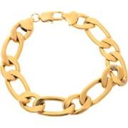 BeBold BIG Thick Gold Stainless Steel Design Fashion Bracelet for Men Boys