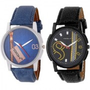 DCH IN-9.24 Pack Of 2 Analogue Wrist Watches For Men And Boys
