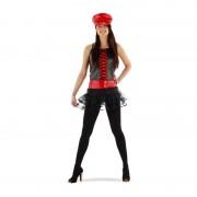 Xenos Verkleedpak rood/zwart met tutu - maat L/XL
