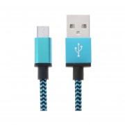 2m Tejida Estilo Micro USB A USB 2.0 Cable Datos / Cargador Para Samsung Galaxy S6 / S5 / S IV / Nota 5 / Nota 5 Borde, HTC, Sony (azul)