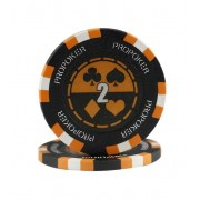 Jeton Pro Poker Clay 13 5g Culoare Portocaliu inscriptionat (2)