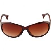 Adine Brown UV Protection Oval Frames Women Sunglasses