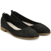 Clarks Alania Rosa Black Nubuck Bellies For Women(Black)