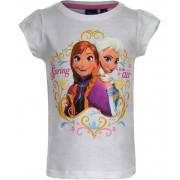 Disney Frozen T-Shirt Anna & Elsa Wit-110 (5 jaar)