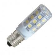 LED lámpa , égő , kukorica , E14 foglalat , 3 Watt , 360° , hideg fehér