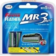 """Feather """"F-System MR3 Neo"""" Сменные кассеты с тройным лезвием для станка, 5 шт."""