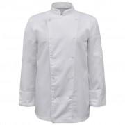 vidaXL Tunici pentru bucătari mânecă lungă, mărime S, alb, 2 buc.