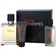 Hermès Terre d'Hermès set cadou VIII. Parfum 75 ml + After Shave Balsam 15 ml + Gel de dus 40 ml