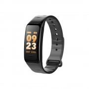 C1 Pro színes kijelzős fitnesz óra pulzusmérővel, fekete