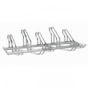 EUROKRAFT Fahrradständer, Bügel aus Stahlrohr, Radeinstellung einseitig - 5 Stellplätze