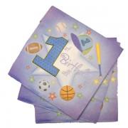 Papír szalvéta 20 db/cs, 1. születésnap, fiús