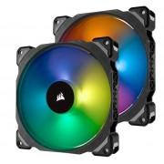 Ventilator Corsair ML140 PRO RGB Twin Pack, Premium Magnetic Levitation, 140mm, 2 buc.