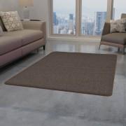 vidaXL Килим от усукани влакна, 190x290 см, кафяв